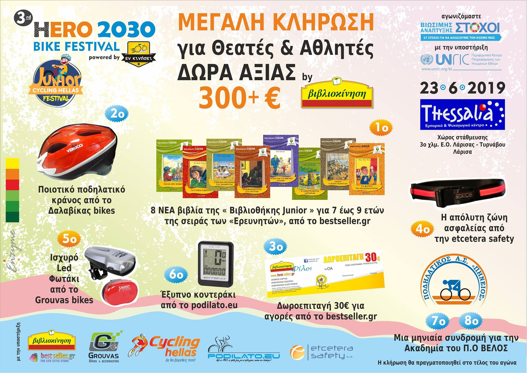 5.CYCLINGHELLAS JUNIOR RACE HERO 2030 ΚΛΗΡΩΣΗ ΔΩΡΩΝ